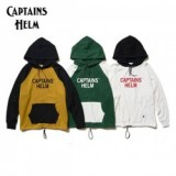 CAPTAINS HELM/キャプテンズヘルム #2TONE COLLEGE HOODIE/ロゴフーディー・3color