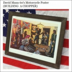 David Mann 60s Motorcycle Poster/ディビッドマン・ポスター -BUILDING A CHOPPER-