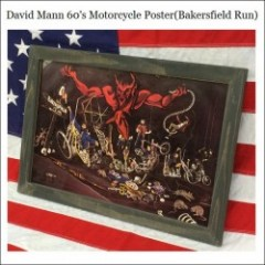 David Mann 60s Motorcycle Poster/ディビッドマン・ポスター -Bakersfield Run-