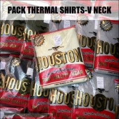 HOUSTON/ヒューストン PACK THERMAL SHIRTS-V NECK/Vネックサーマルシャツ・4color