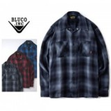 BLUCO WORK GARMENT/ブルコ OMBRE WORK SHIRTS LS/オンブレー長袖ワークシャツ OL-109TO-021・4color