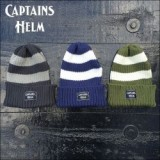 "CAPTAINS HELM/キャプテンズ・ヘルム 2016S/S新作 MIX WATCH CAP ""POPULARS"" -BORDER/ニット帽・ビーニー 3color"