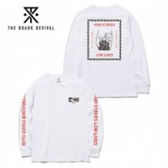 ROARK REVIVAL/ロアーク・リバイバル HIGH STAKES,LOW LIVES LS TEE/ロングスリーブTシャツ・WHITE