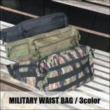 MILITARY WAIST BAG/ミリタリーウエストバッグ・3color