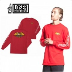 LOSER MACHINE/ルーザーマシーン 2017' ALLEYWAY LS TEE/ロングスリーブTシャツ・RED