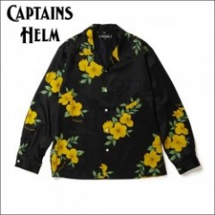 CAPTAINS HELM/キャプテンズヘルム #CALIFORNIA ALOHA LS SHIRTS/アロハシャツ・BLACK
