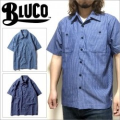 BLUCO WORK GARMENT/ブルコ WORK SHIRTS SS -C.Stripe-/ワークシャツ・2color