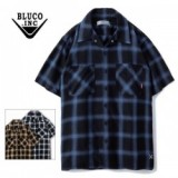 BLUCO WORK GARMENT/ブルコ WORK SHIRTS SS -ombre check/半袖オンブレーチェックシャツ・3color