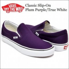 VANS USA・バンズ CLASSIC SLIP-ON Plum Purple/True White・スリッポン
