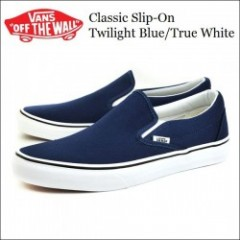 VANS USA・バンズ CLASSIC SLIP-ON Twilight Blue/True White・スリッポン