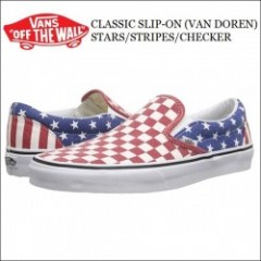 VANS USA・バンズ CLASSIC SLIP-ON (VAN DOREN)STARS/STRIPES/CHECKER・スリッポン