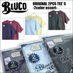 BLUCO WORK GARMENT/ブルコ ORIGINAL 2PCS TEE'S-2color assort/2パックTシャツ