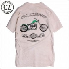 CycleZombies/サイクルゾンビーズ SERVICE Garage Made SS T-SHIRT/Tシャツ・DIRTY WASH WHITE