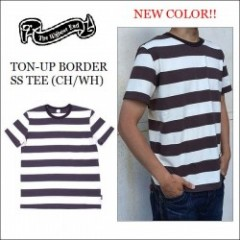 THE HIGHEST END/ザ・ハイエストエンド TON-UP BORDER SS TEE/ボーダーTシャツ・CH/WH