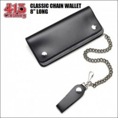 "415 CLOTHING / CLASSIC CHAIN WALLET / チェーンレザーウォレット・8"" LONG"