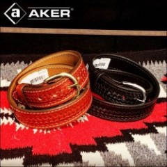 AKER LEATHER PRODUCTS/エイカー BASCKET WEAVE DRESS BELT/ベルト・2color