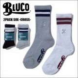 BLUCO WORK GARMENT/ブルコ 2PACK SOX -CROSS- /2パックソックス・2color