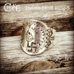 CHOOKE/チョーク Indian Skull Ring S/シルバーリング・指輪 SILVER
