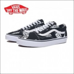 VANS USA/ヴァンズ OLD SKOOL/オールドスクール・(LOGO MIX)BLACK/TRUE WHITE