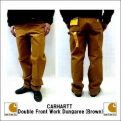 Carhartt(カーハート) Double Front Work Dungaree(ダブルニーペインターパンツ)【BROWN】