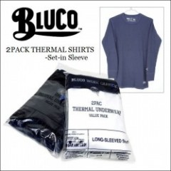 BLUCO WORK GARMENT・ブルコ 2016'秋冬 2PACK THERMAL SHIRTS -Set-in Sleeve-/サーマルシャツ・2パターン