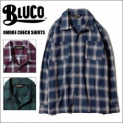 BLUCO WORK GARMENT/ブルコ OMBRE CHECK SHIRTS/オンブレーチェックシャツ・3color