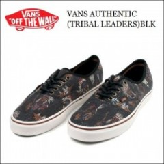 VANS USA(バンズ) 2014'F/W AUTHENTIC(オーセンティック) 【TRIBAL LEADERS/BLK】