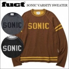 [SALE30%OFF] FUCT SSDD/ファクト 2015'秋冬 SONIC VARSITY SWEATER/クルーネックセーター・3color