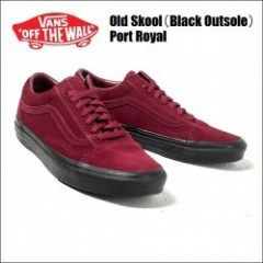 VANS USA/ヴァンズ OLD SKOOL/オールドスクール・(Black Outsole) Port Royal