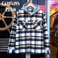 CAPTAINS HELM/キャプテンズ・ヘルム 2016'AW #HOODED CHECK SHIRT/フード付きチェックシャツ・WHITE