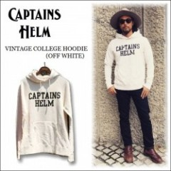 CAPTAINS HELM/キャプテンズ・ヘルム 2016' VINTAGE COLLEGE HOODIE/プルオーバーフーディー・OFF WHITE