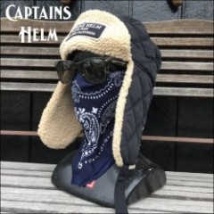 CAPTAINS HELM/キャプテンズヘルム #WP TRAPPER HAT/ボアイヤーフラップキャップ・BLACK