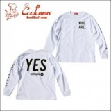 COOKMAN/クックマン Long sleeve T-shirts「YES」/ロングスリーブTシャツ・WHITE
