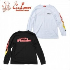 COOKMAN/クックマン Long sleeve T-shirts「FLAMBE」/ロングスリーブTシャツ・2color