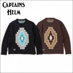 CAPTAINS HELM/キャプテンズ・ヘルム 2016'AW #NATIVE KNIT P/O/ネイティブ柄ニットセーター・2color
