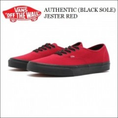 VANS USA/バンズ AUTHENTIC(BLACK SOLE) JESTER RED/オーセンティック VN-0003Z3HXP