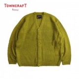 TOWNCRAFT/タウンクラフト SOLID JACQUARD 70S CARDIGAN/カーディガン・GREEN