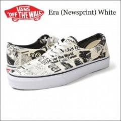 VANS USA/バンズ ERA/エラ (Newsprint) White・VN-0003Z512O