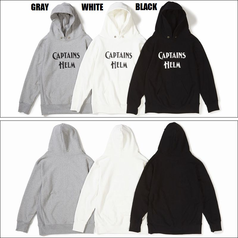CAPTAINS HELM/キャプテンズヘルム #LOGO AUTHENTIC HOODIE/プルオーバーパーカー・3color