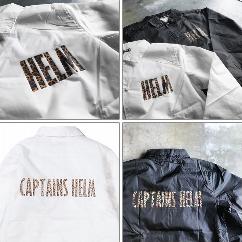 CAPTAINS HELM/キャプテンズヘルム #LEOPARD COACH JACKET/コーチジャケット・2color