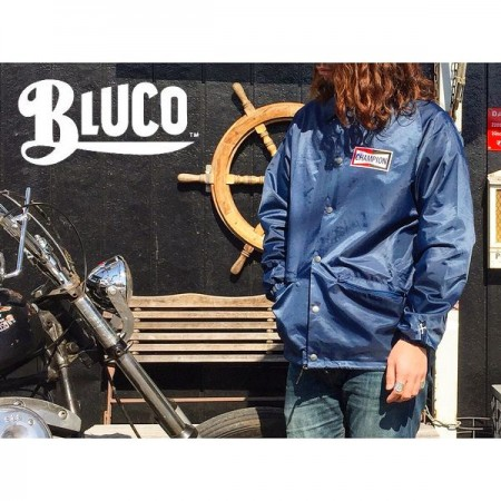 BLUCO WORK GARMENT/ブルコ COACH JACKET-CHAMPION/コーチジャケット・NAVY
