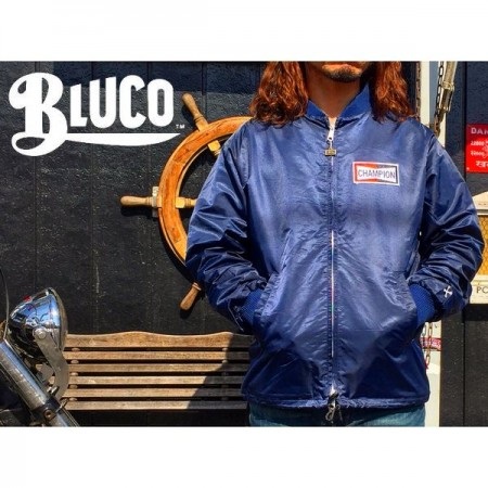 BLUCO WORK GARMENT/ブルコ RACING JACKET -CHAMPION/レーシングジャケット・NAVY