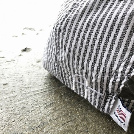 CAPTAINS HELM/キャプテンズヘルム #USA MADE SEERSUCKER 6P CAP/キャップ・BLACK STRIPE
