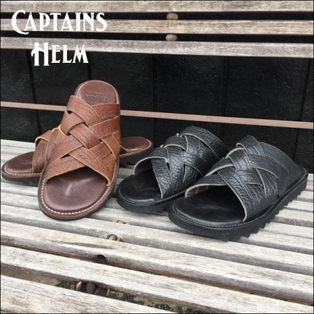 BROTHER BRIDGE × CAPTAINS HELM/キャプテンズヘルム #SHARK SOLE LEATHER SANDAL/サンダル・2color