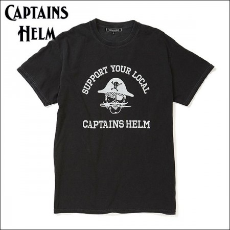 CAPTAINS HELM/キャプテンズヘルム PIRATES #CAPTAIN TEE/Tシャツ・BLACK