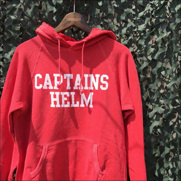 CAPTAINS HELM/キャプテンズ・ヘルム 2016'SS VINTAGE COLLEGE HOODIE/プルオーバーフーディー 2color