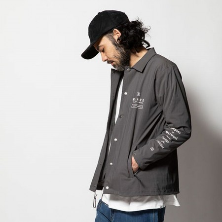 "ROARK REVIVAL/ロアーク・リバイバル ""Songs of the Scuttled"" ST COACHES JACKET/コーチジャケット・GREY"
