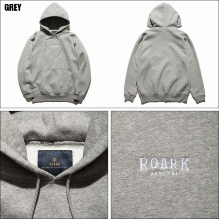 "ROARK REVIVAL/ロアーク・リバイバル ""MEDIEVAL LOGO"" PO HOODED SWEAT/プルオーバーパーカー・2color"