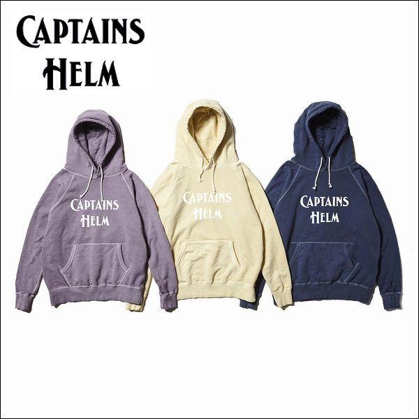 CAPTAINS HELM/キャプテンズヘルム #PIGMENT LOGO HOODIE/ピグメントフーディー・3color