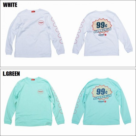 COOKMAN/クックマン Long sleeve T-shirts「SUPER VALUE」/ロングスリーブTシャツ・2color